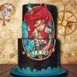 Ariel cake hand .