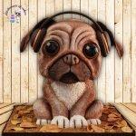 Pug Dog cake.