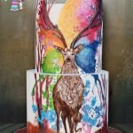Deer Cake - Hand painting